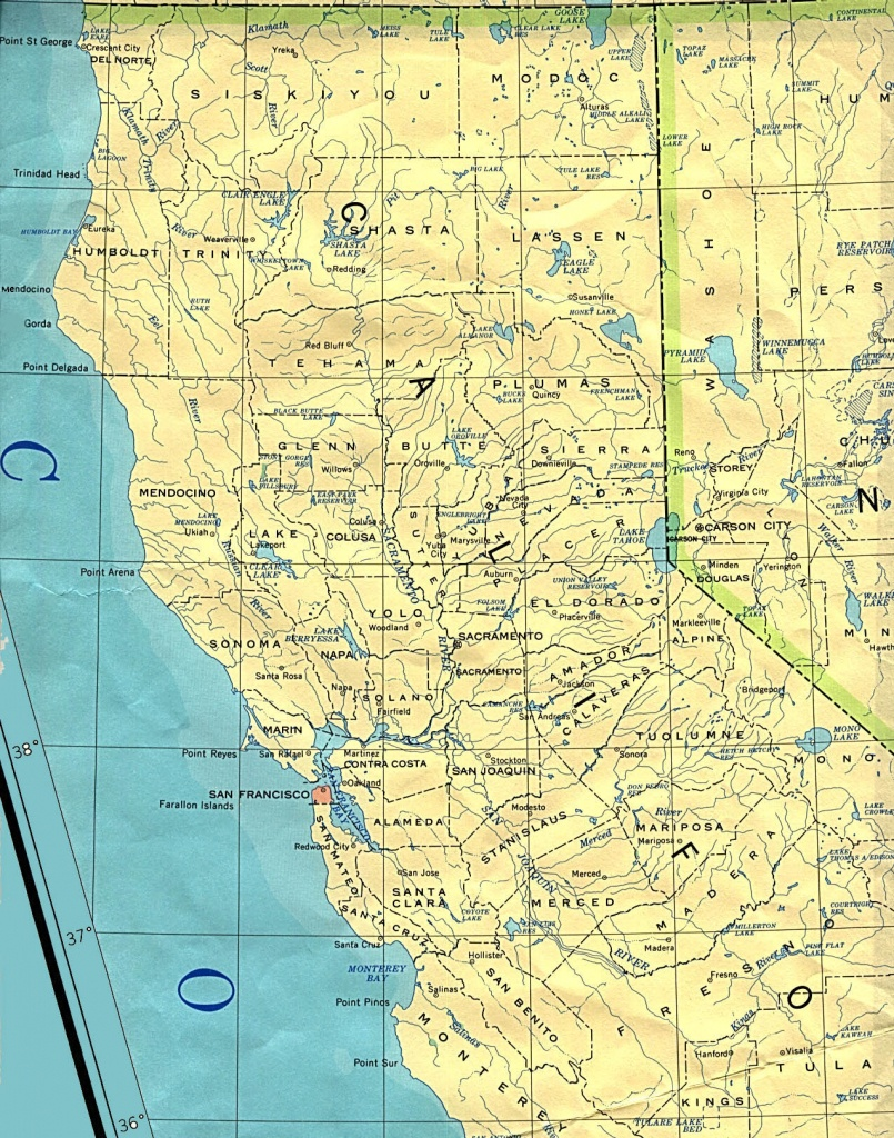 Northern California Base Map - Detailed Map Of Northern California