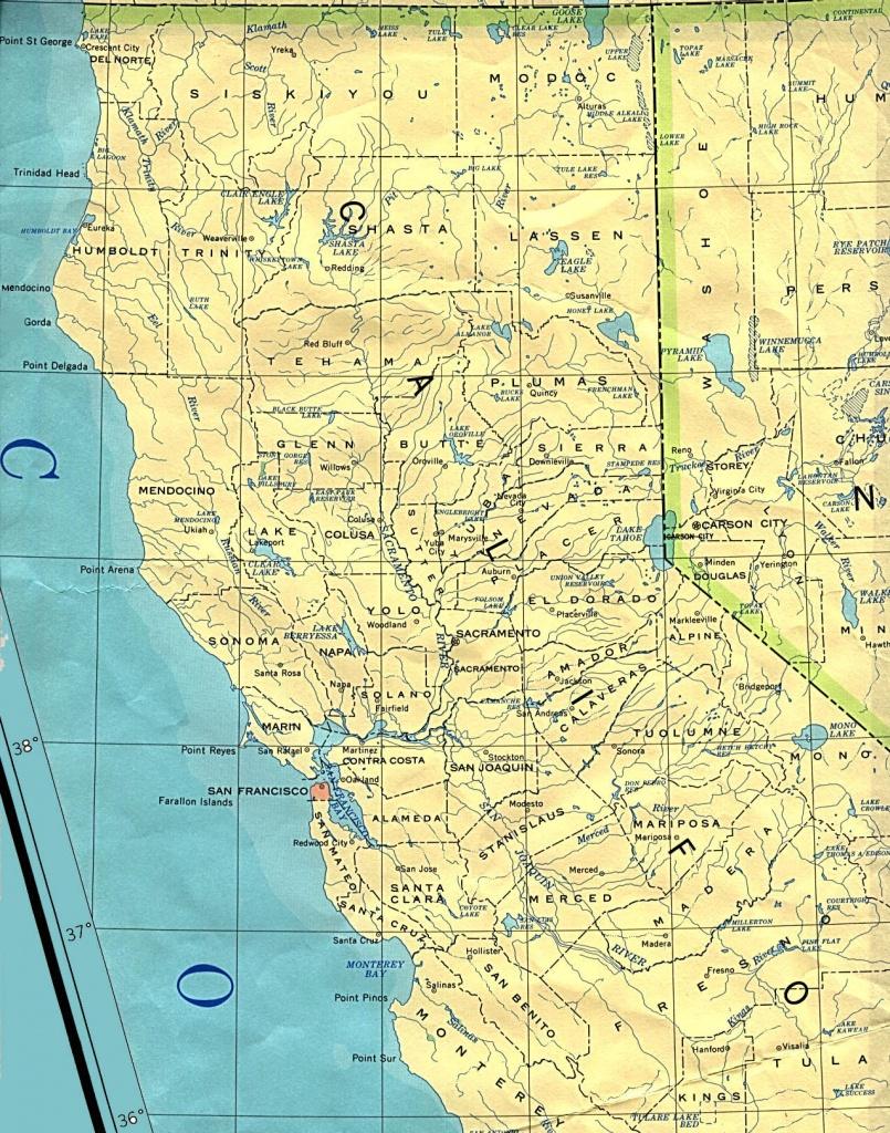 Northern California Base Map - Northern California County Map