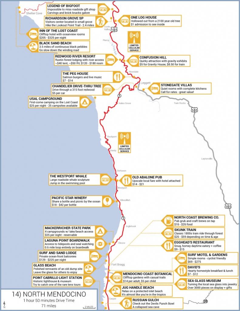 Northern California Highway 1 Road Trip Guide - Map Of Hwy 1 California Coast