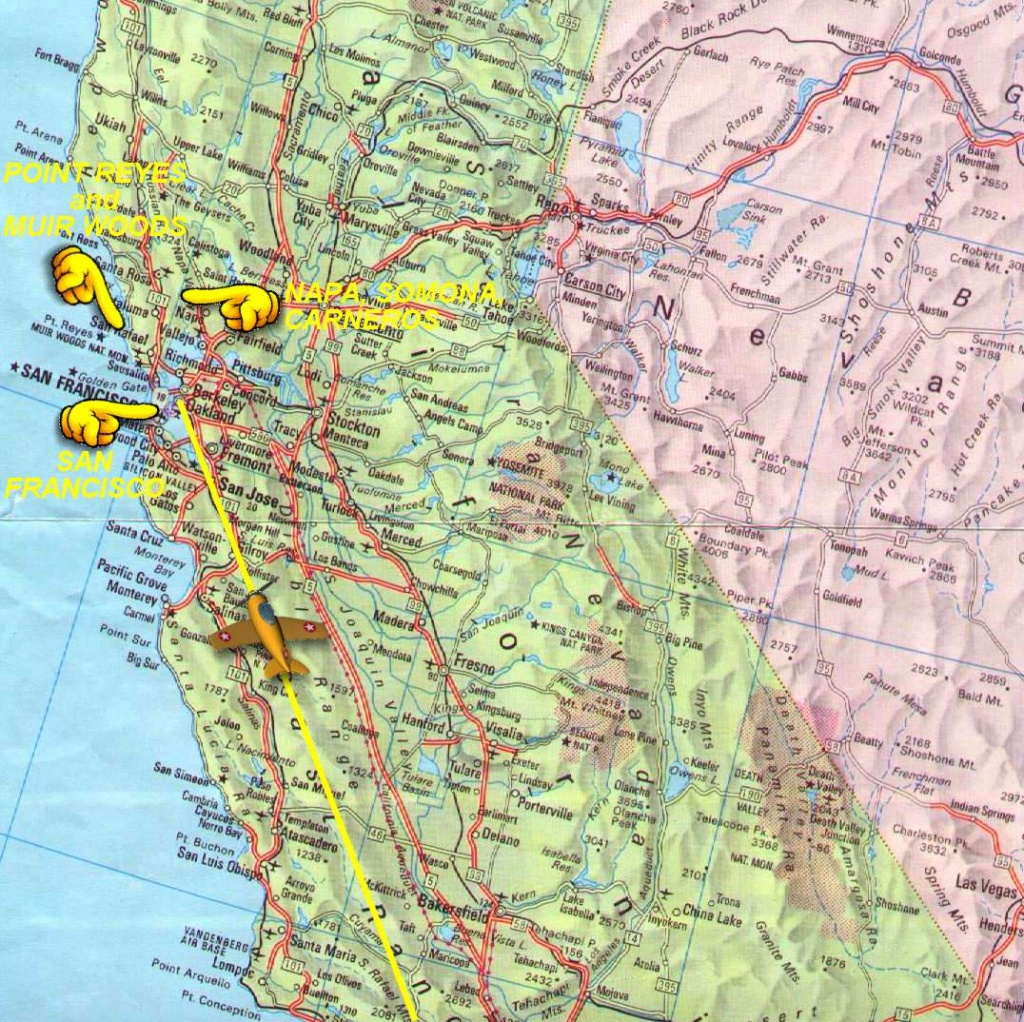 Northern California Map - Detailed Road Map Of Northern California