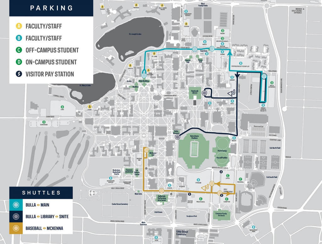 Notre Dame Map | Kitchen 2018 - Notre Dame Campus Map Printable