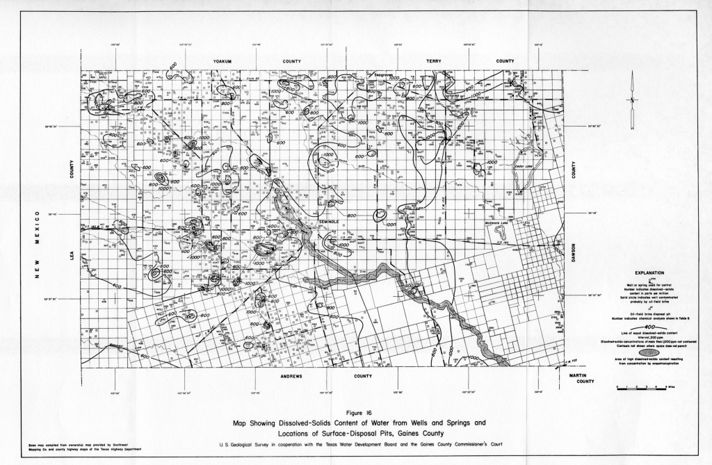 Numbered Report 15 | Texas Water Development Board - Gaines County Texas Section Map