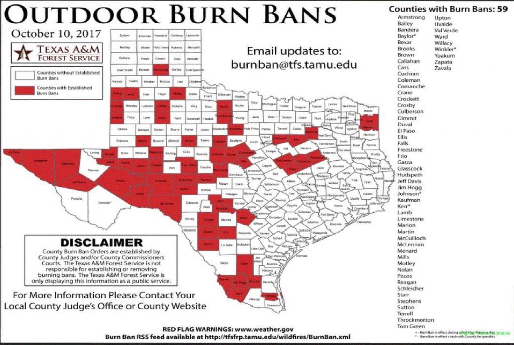"Nws Shreveport On Twitter: ""texas Burn Bans In Effect. #txwx - Burn Ban Map Of Texas"