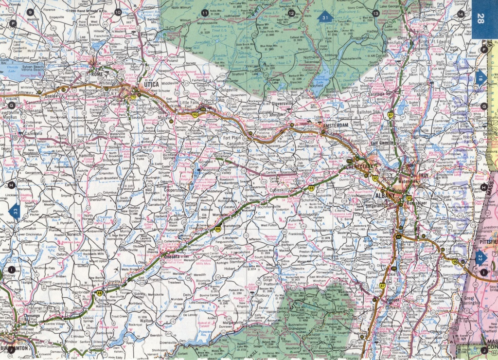 Ny State Highway Maps And Travel Information | Download Free Ny - Road Map Of New York State Printable