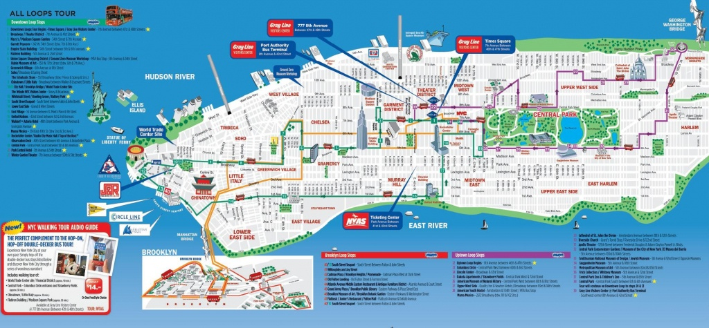 Nyc Walking Tourist Map - Nyc Walking Map Printable (New ...