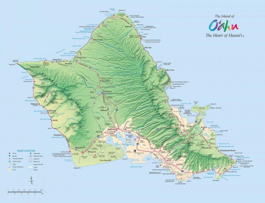 Oahu Maps   Go Hawaii - Printable Map Of Oahu Attractions