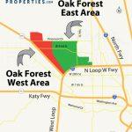 Oak Forest Houston Homes, Real Estate, Neighborhood   Map Of Northwest Houston Texas