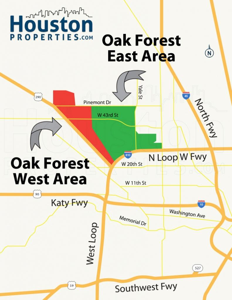 Oak Forest Houston Homes, Real Estate, Neighborhood - Map Of Northwest Houston Texas
