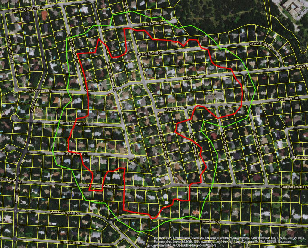 Oak-Wilt-Treatment-Map - Town Of Hollywood Park-The Official Website - Oak Wilt Texas Map