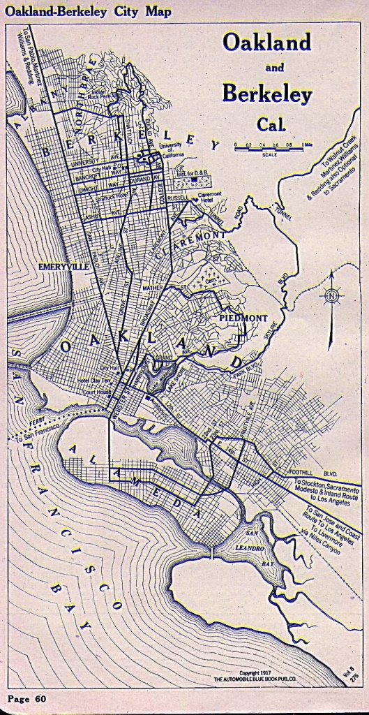 Oakland And Berkeley Map 1917 | I Hella Love Oakland, Berkeley - Oakland California Map