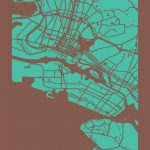 Oakland, California Map Print | Maps | California Map, Map, Oakland   Oakland California Map