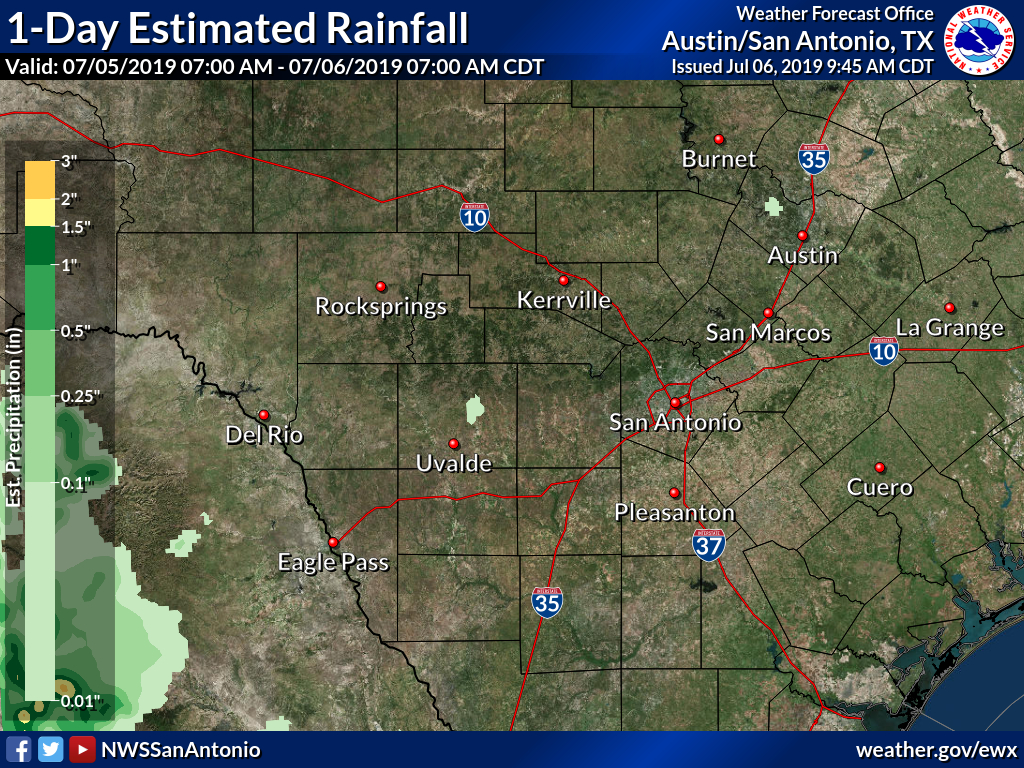 Observed Rainfall - Texas Weather Map Today