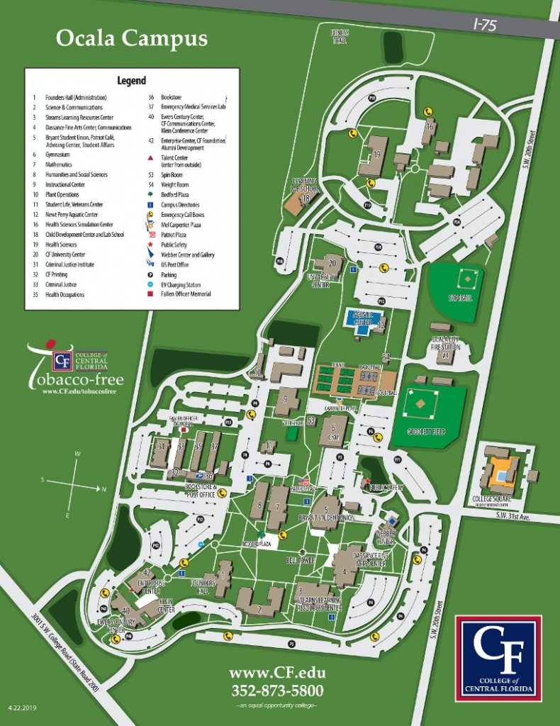 Ocala Campus Map | College Of Central Florida - Florida Map Directions
