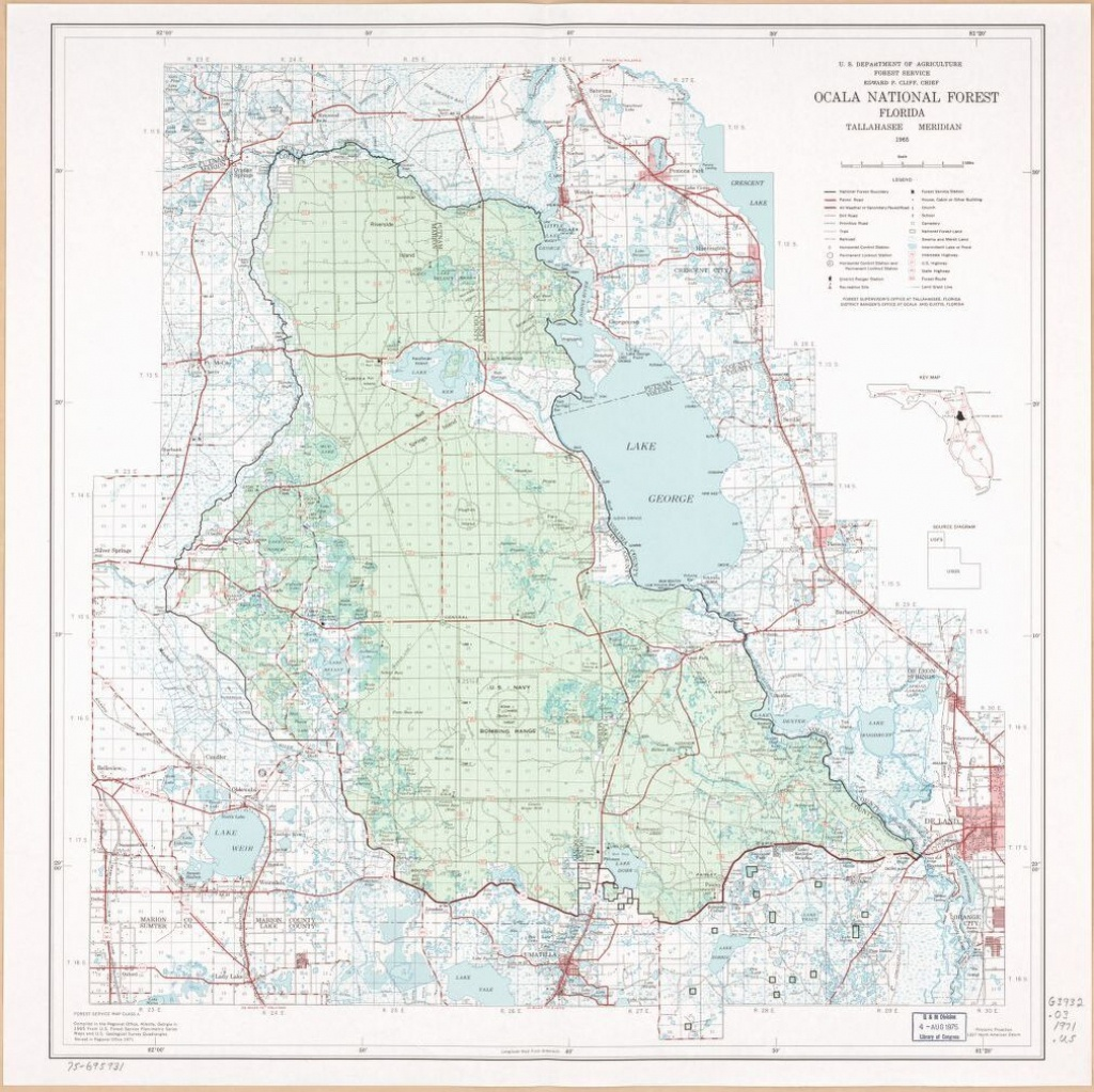 Ocala National Forest, Florida. | Library Of Congress - National Forests In Florida Map