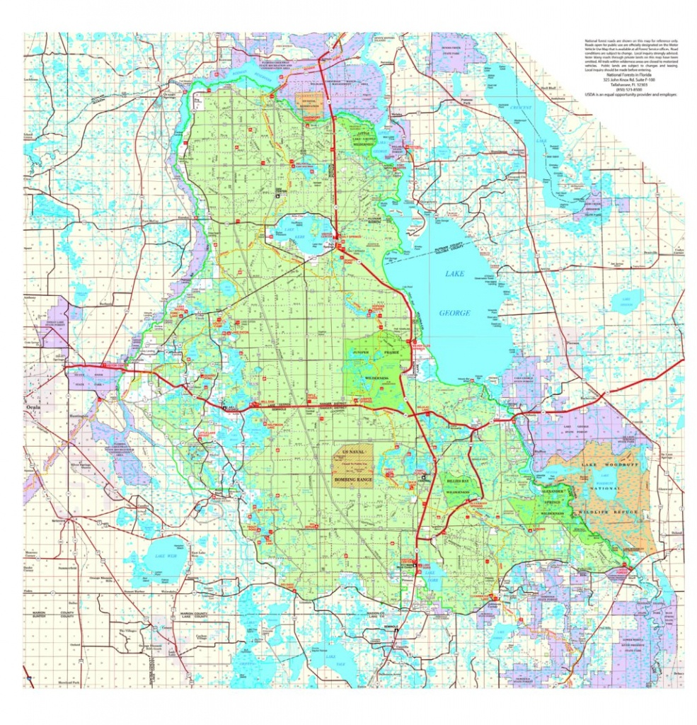 Ocala National Forest Visitor Map - Us Forest Service R8 - Avenza Maps - National Forests In Florida Map