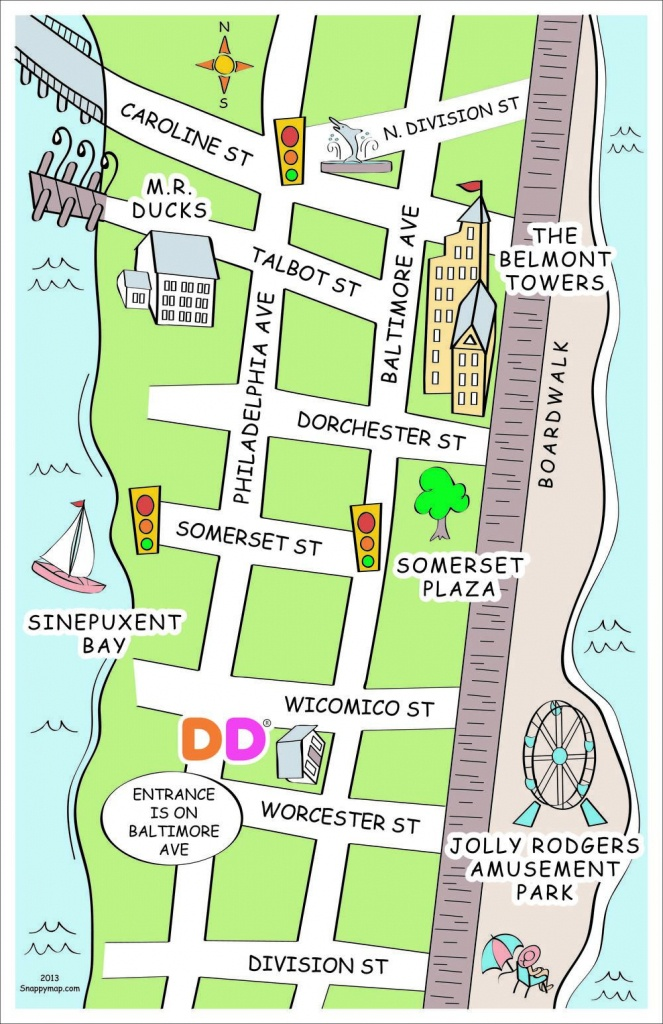 Ocean City, Md Discovery Map Style   Fun Business Map   How To Draw - Printable Street Map Ocean City Nj