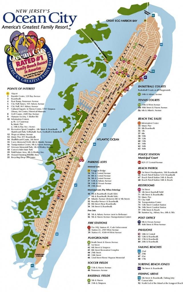 Ocean City Nj Street Map   Travel   Ocean City Nj, Ocean City, Ocean - Printable Street Map Ocean City Nj