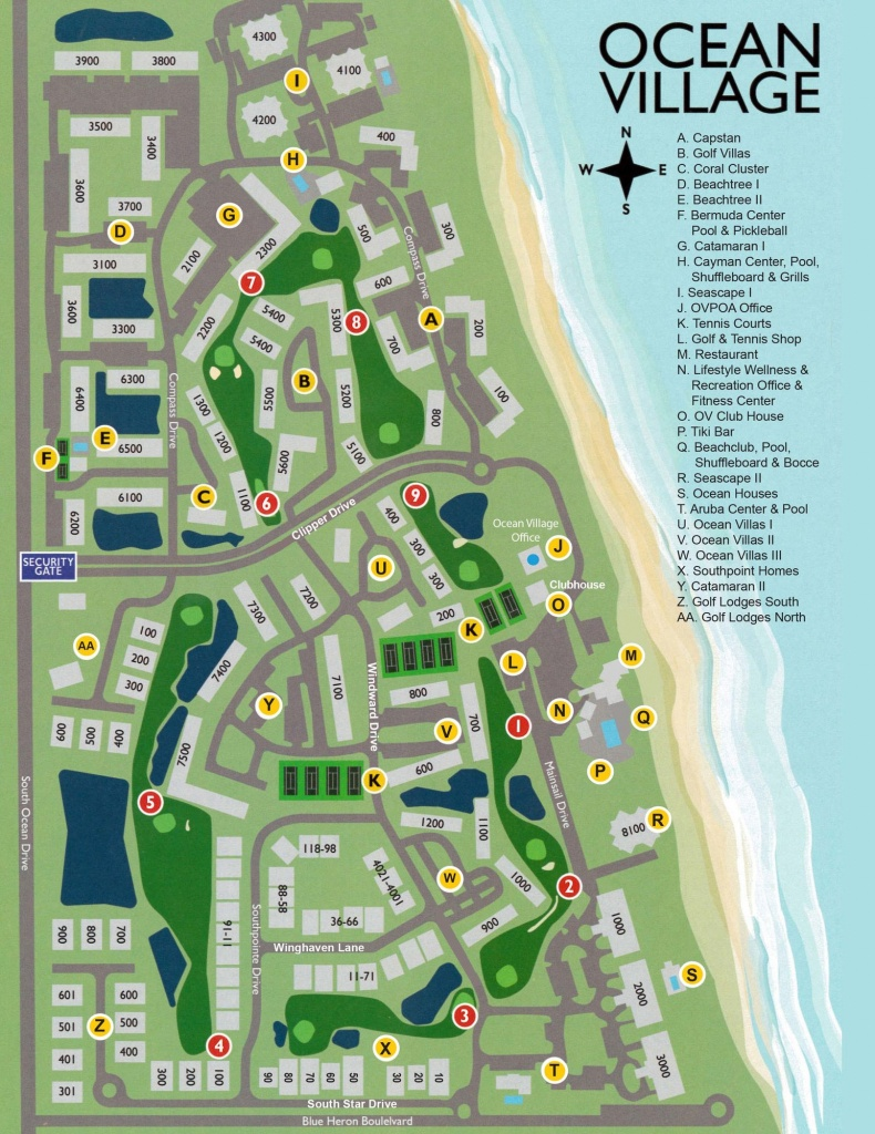 Ocean Village On Hutchinson Island - Hutchinson Island Florida Map