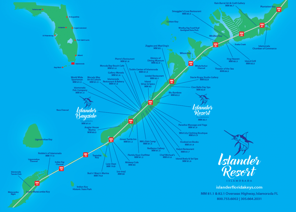 Oceanside Rooms | Islander Resort - Florida Keys Map