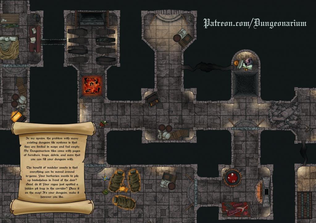 Oc][Resource] Hd, Printable, Modular Dungeon Tiles And Loads Of - Printable D&d Map Tiles