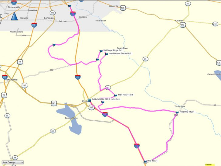 Ennis Texas Map