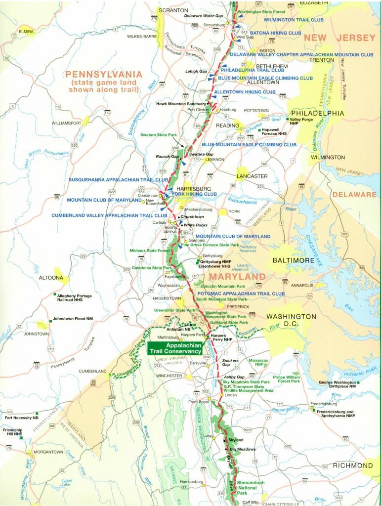 Official Appalachian Trail Maps - Printable Appalachian Trail Map