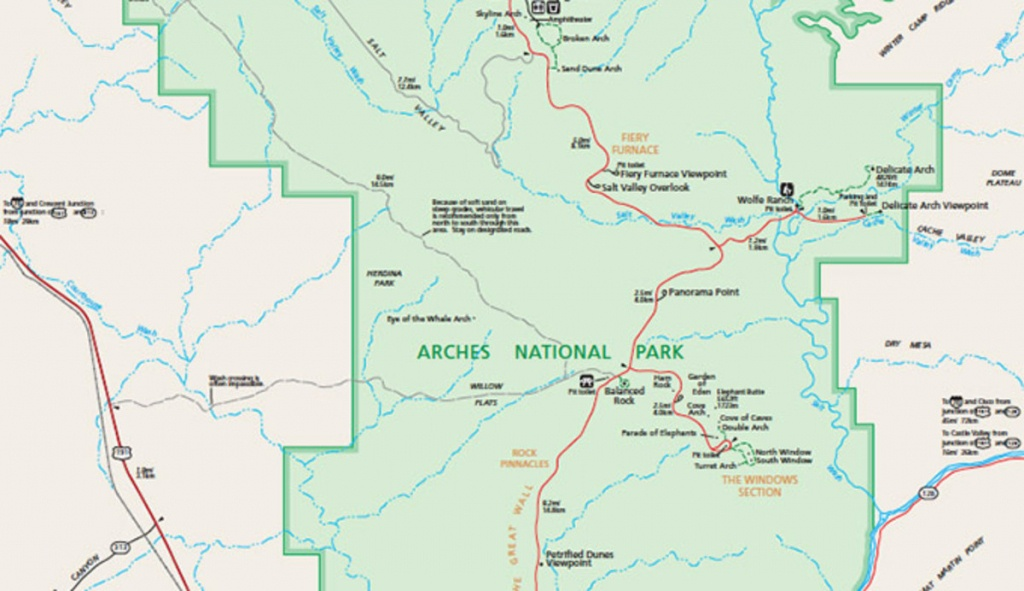 Official Arches National Park Map Pdf - My Utah Parks - Printable Map Of Utah National Parks