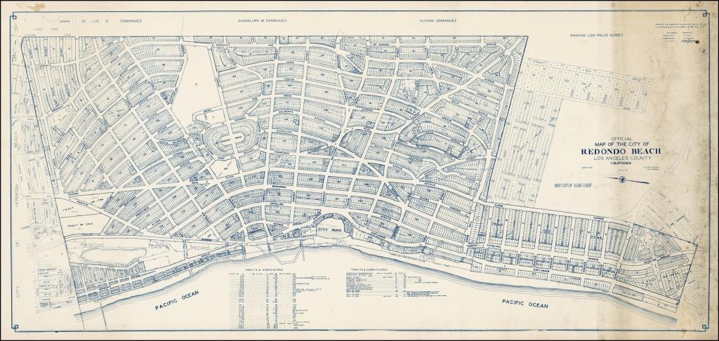 Official Map Of The City Of Redondo Beach Los Angeles County - Redondo Beach California Map