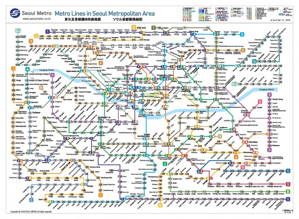 Official Site Of Korea Tourism Org.: Transportation : Seoul Subway Map - Printable Seoul Subway Map