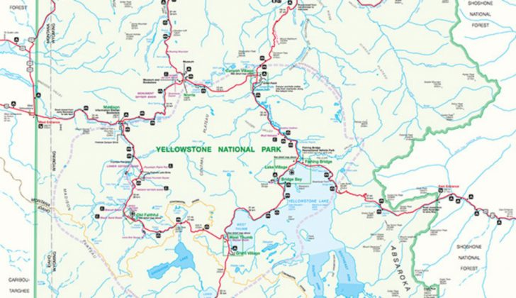 Free Printable Map Of Yellowstone National Park