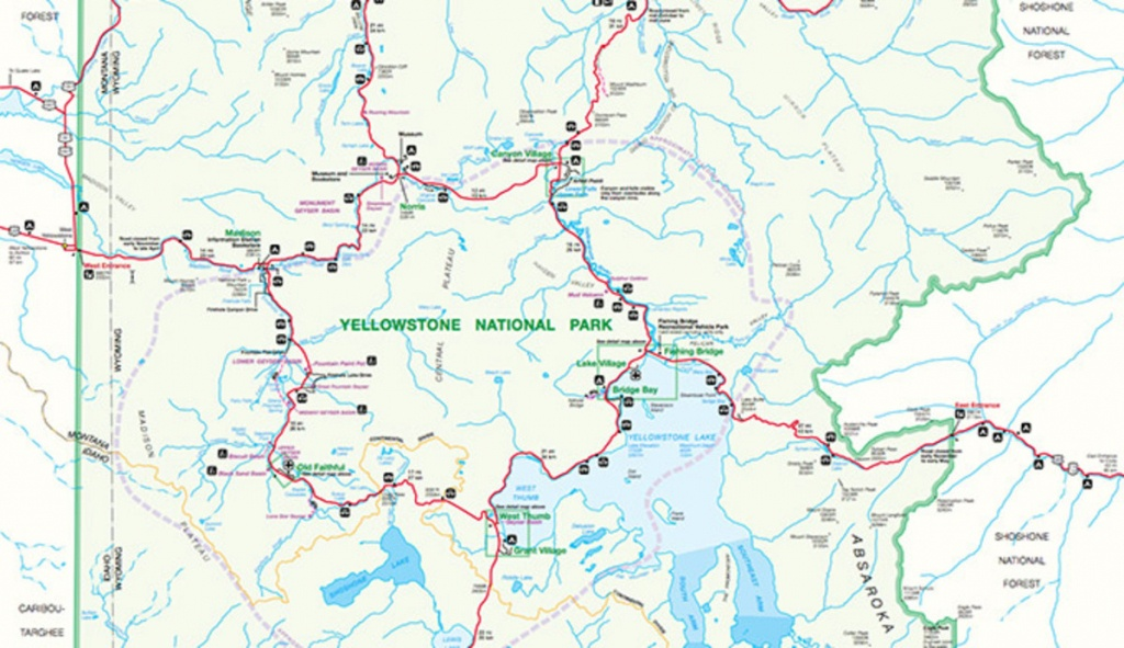 Official Yellowstone National Park Map Pdf - My Yellowstone Park - Printable Map Of Yellowstone
