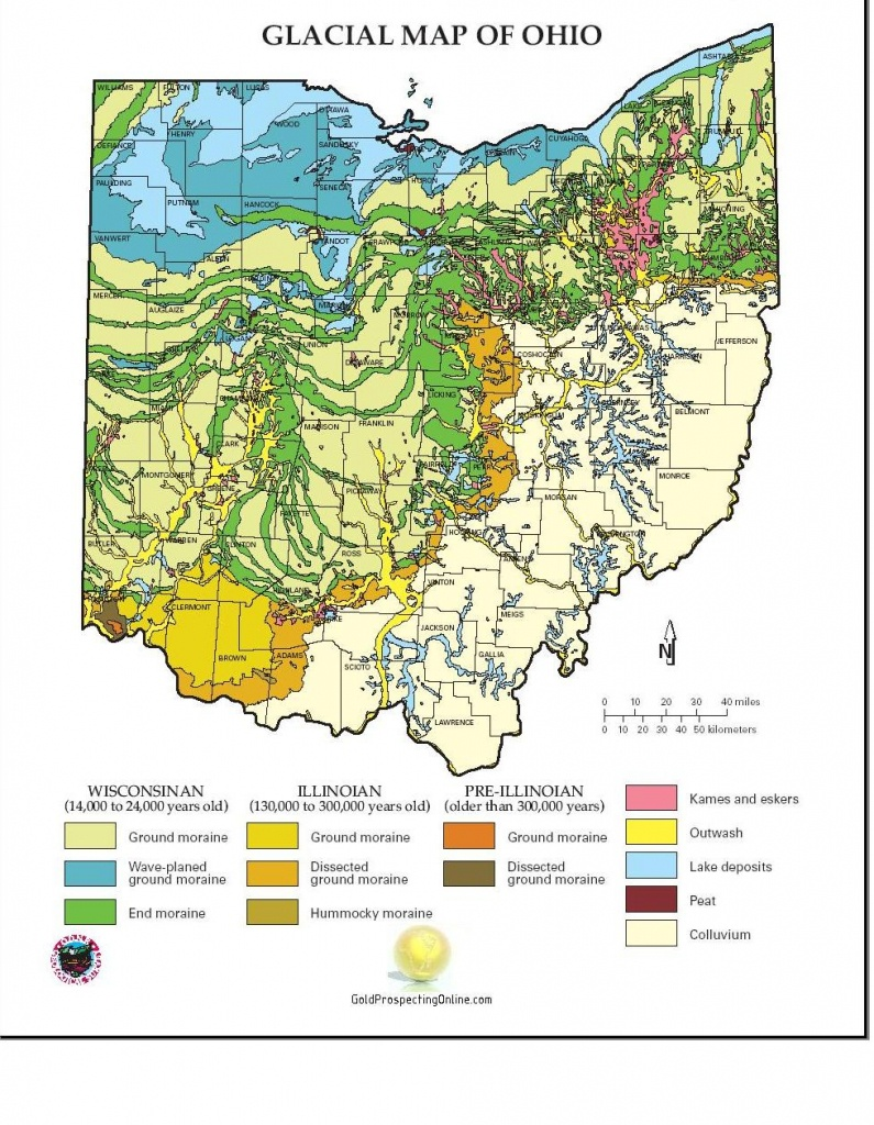 Ohio | Gold Prospecting Equipment,tips & Gold Maps - Gold Prospecting In Texas Map