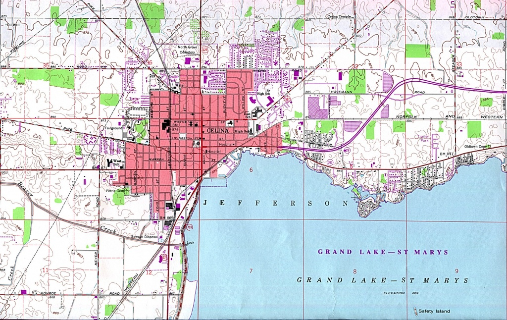 Ohio Maps - Perry-Castañeda Map Collection - Ut Library Online - Celina Texas Map