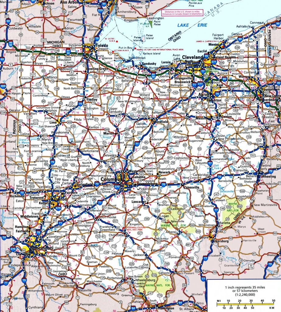 Ohio Road Map - Ohio State Map Printable