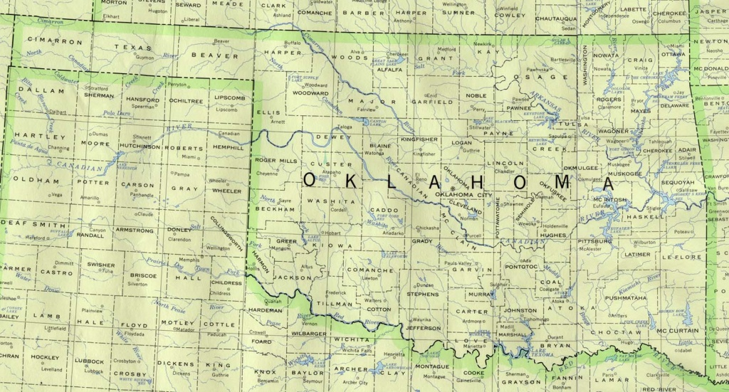 Oklahoma Maps - Perry-Castañeda Map Collection - Ut Library Online - Road Map Of Texas And Oklahoma