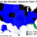 Oklahoma State Bureau Of Investigation Reciprocity Within Colorado   Florida Concealed Carry Reciprocity Map
