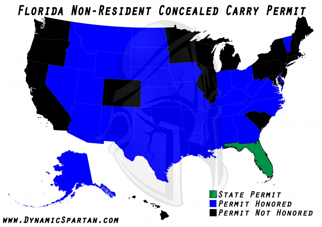 Oklahoma State Bureau Of Investigation Reciprocity Within Colorado - Florida Concealed Carry States Map