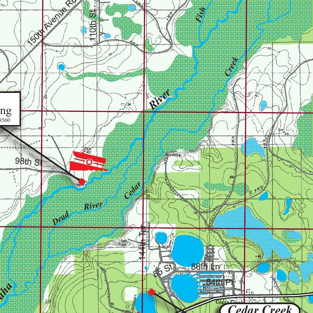 Oklawaha River Florida - Kingfisher Maps, Inc. - Avenza Maps - Ocklawaha Florida Map