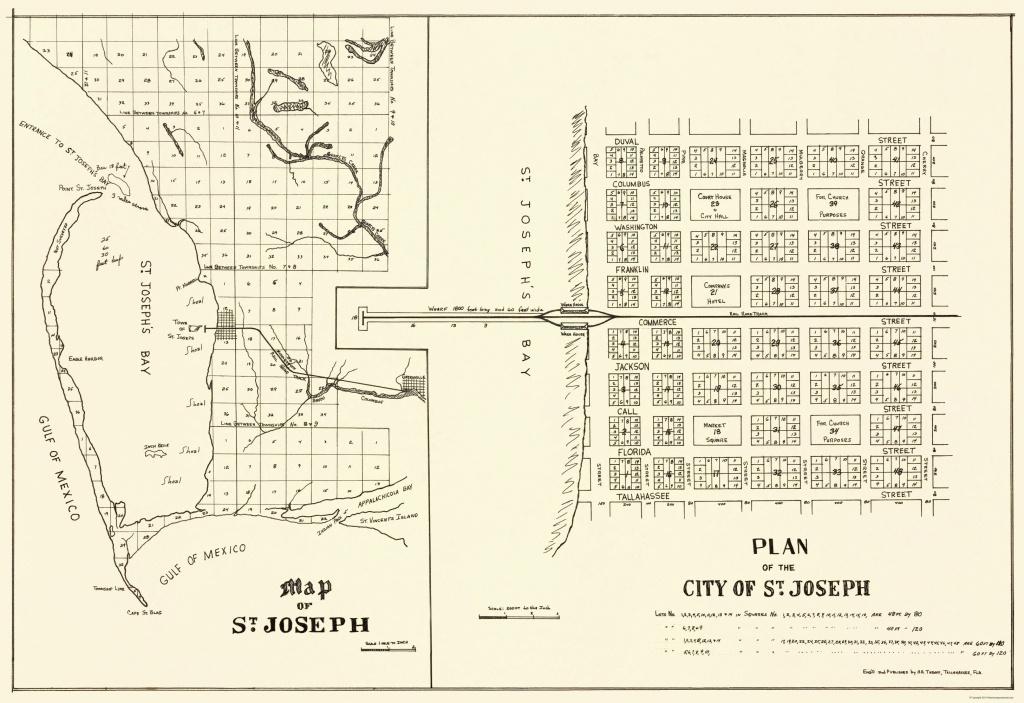 Old City Map - St. Joseph Florida Planning 1837 - St Joe Florida Map