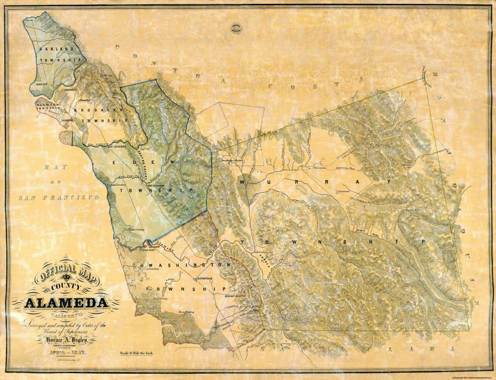 Old County Map - Alameda California - 1857 - Old California Map