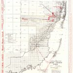 Old County Map   Dade Florida Road   Richeson 1921   Map Of Dade County Florida