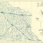 Old County Map   Van Zandt Texas   Highway Dept 1936   Van Zandt County Texas Map