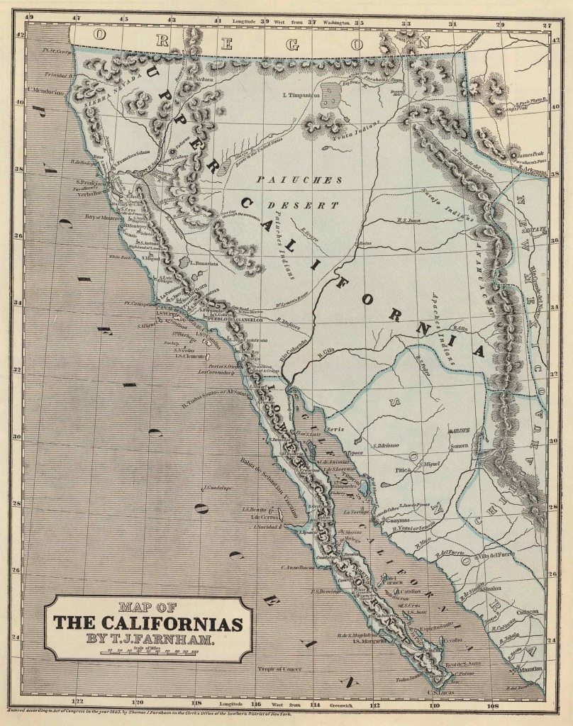 Old Historical City, County And State Maps Of California - Old California Map