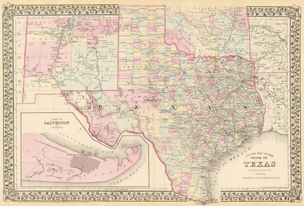 Old Historical City, County And State Maps Of Texas - Antique Texas Map