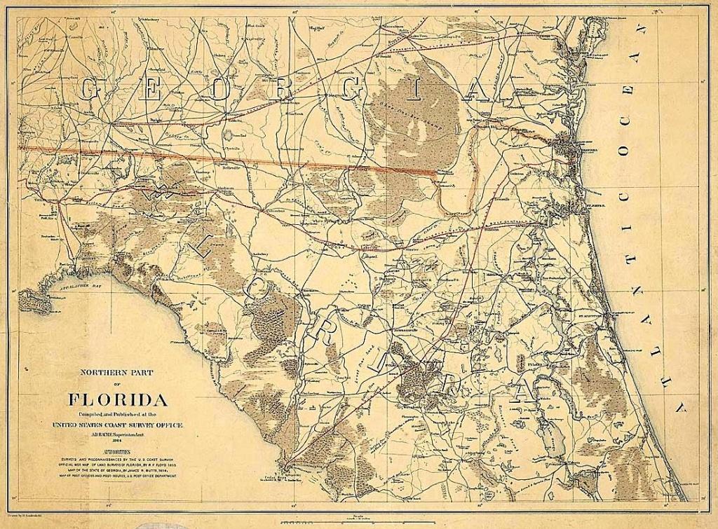 Old King's Road, Florida - Historic Florida Maps