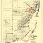 Old Map   Dade Florida Road   Miami Motor Club 1921   Map Of Dade County Florida
