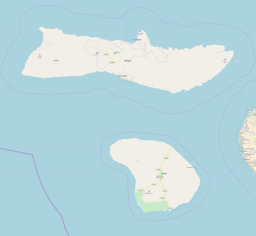 Olokui - Wikipedia - Molokai Map Printable