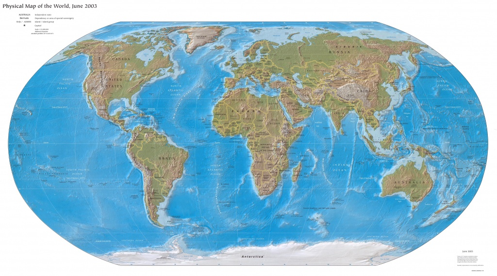 Online Map Of Physical World - World Maps Online Printable