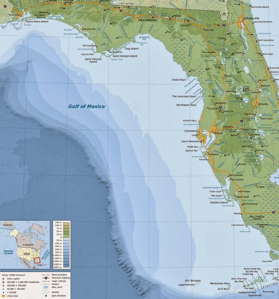 Online Maps: Florida Gulf Coast Map - Map Of Florida Gulf Coast
