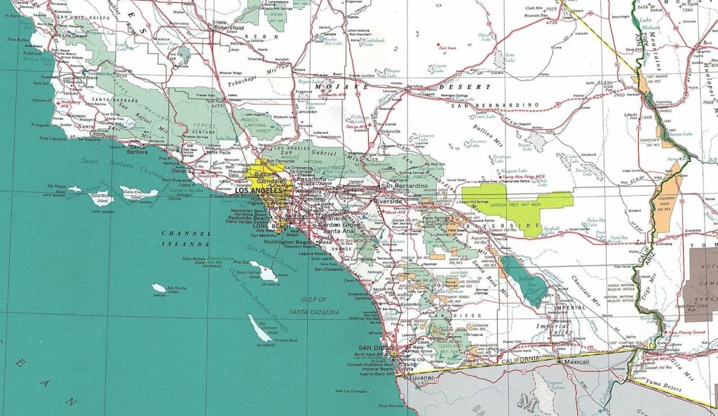 Online Maps Southern California Road Map Within South - Touran - Detailed Map Of Southern California